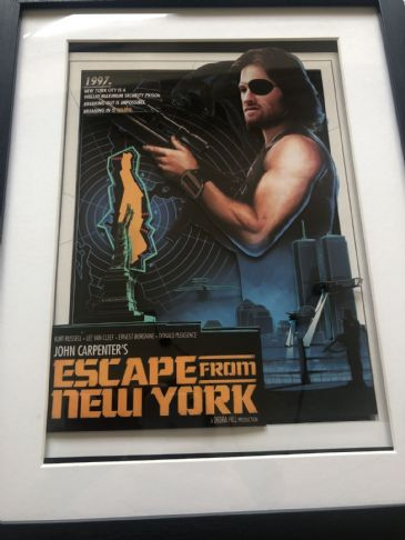 Escape From New York 3D Diorama Shadow Box Art